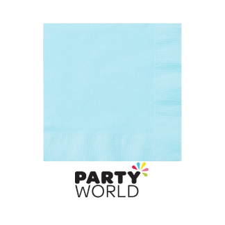 Pastel Blue Beverage Napkins (50)