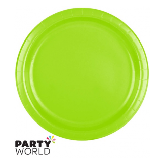 Fresh Lime Paper 7inch Plates (24)