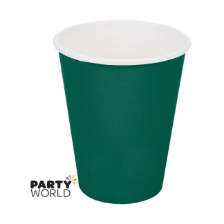 Hunter Green Paper Cups 9oz (24)