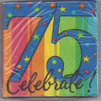 75th Birthday Beverage Napkins (16)