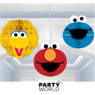 Sesame Street Honeycomb Hanging Decorations (3)