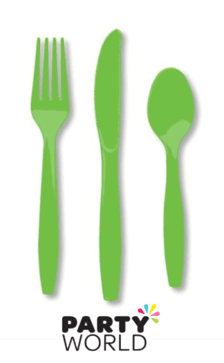cutlery citrus green