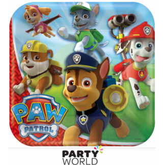 Paw Patrol Dinner Square Plates 9in (8)