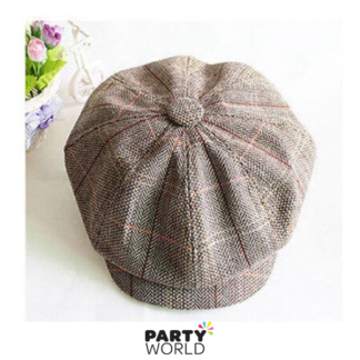 Gatsby Tweed Brown Cap (one size)