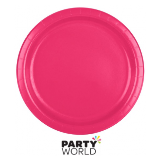 Hot Magenta 9inch Paper Plates (24)