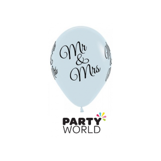 Mr & Mrs Black on White Latex Balloons (5)