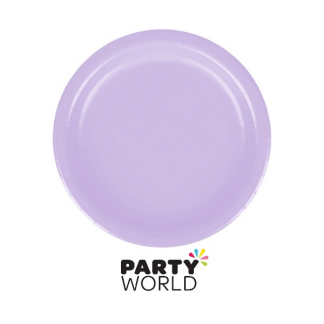 Luscious Lavender Paper Plates 7in (24)