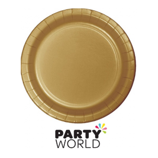 Gold 9inch Paper Plates (24)