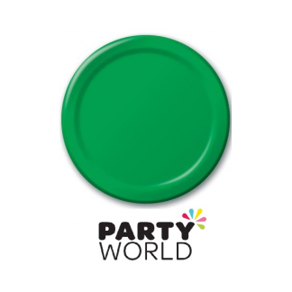 Emerald Green 7in Paper Plates (24)