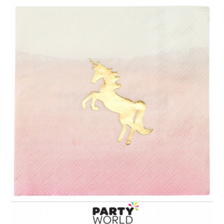 Meri Meri Unicorn Beverage Napkins (16)