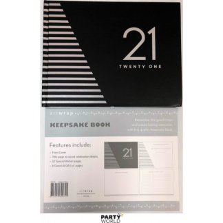 21st Keepsake Book Black & Silver Celebrate