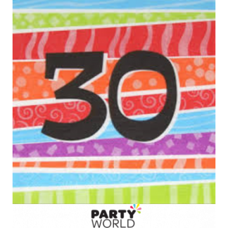 30th Stripe Lunch Napkins (25)