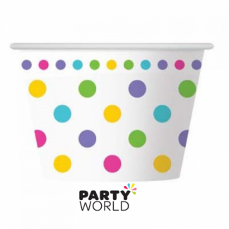Rainbow Dots Ice Cream Cups (6)