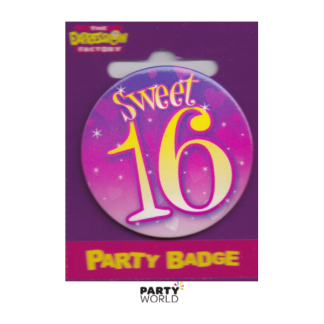 Birthday Girl Badge Sweet 16th