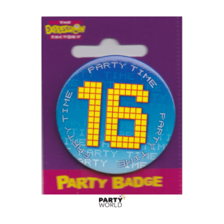 Birthday Badge Party Time 16th
