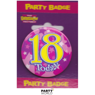 Birthday Girl Badge 18th