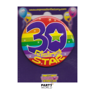 "Birthday Badge 30th ""Rising Star"""