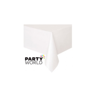 White Rectangular Table Cover
