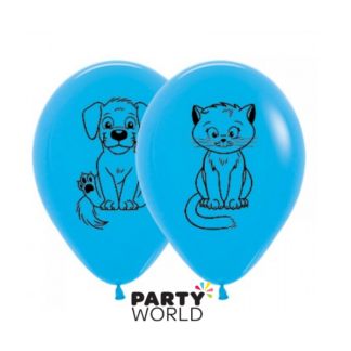 Latex Puppy & Kitten Balloons (5pk)