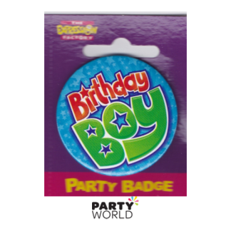 Birthday Star Boy Badge