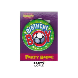 Birthday Soccer Boy Badge