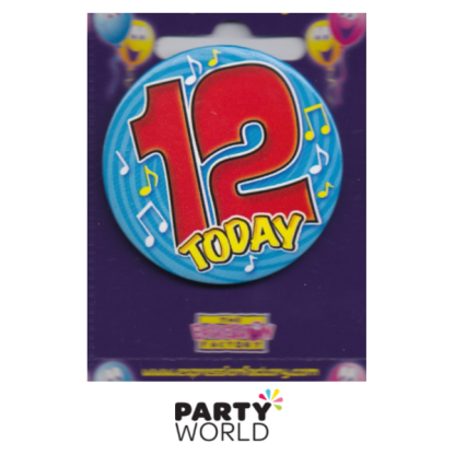 "12th Birthday Blue Badge ""Today"""