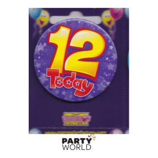 "12th Birthday Purple Badge ""Today"""