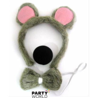 Mouse Disguise Set ( Headband, Nose, Bow Tie)