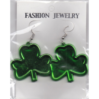 Shamrock Plastic Earrings