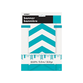 Teal Bunting Paper Flag Banner