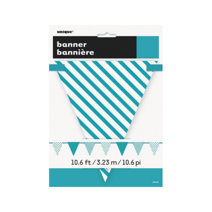 Teal Paper Bunting Banner
