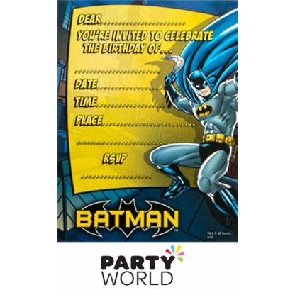 Batman Party Invitations (8)
