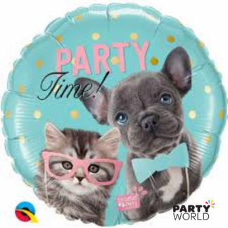 "Party Time Pets Foil Birthday Balloon 18""(46cm)"