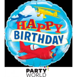 "Airplanes Foil Birthday Balloon 18""(46cm)"