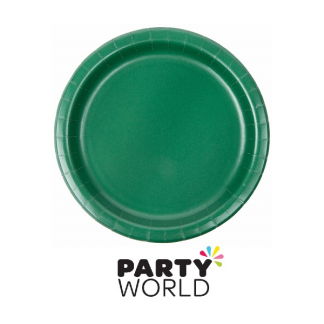 "Hunter Green 9"" Paper Plates (24)"