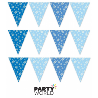 Snowflakes Flag Bunting