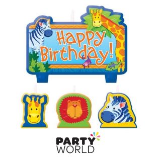 Jungle Animals Candle Set Happy Birthday (4)