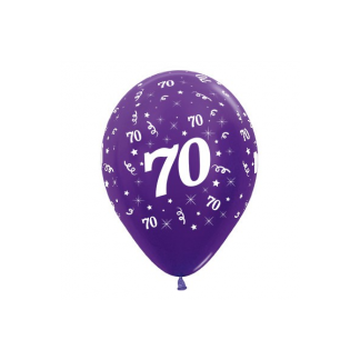 70 Metallic Purple Violet Latex Balloons (6)