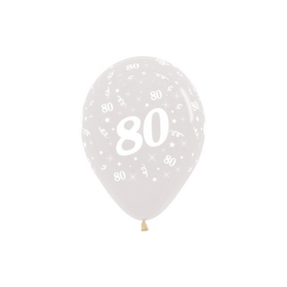 80 Metallic Jewel Crystal Clear Latex Balloons (6)