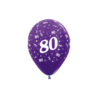 80 Metallic Purple Pearl Violet Latex Balloons (6)