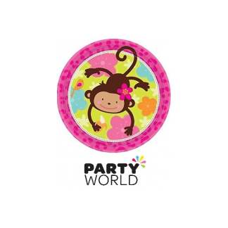 Monkey Love Paper Plates 9inch (8)