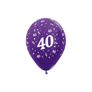 40 Metallic Purple Pearl Violet Latex Balloons (6)