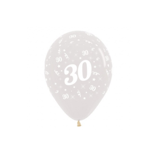 30 Jewel Crystal Clear Latex Balloons (6)