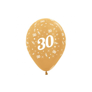 30 Metallic Gold Latex Balloons (6)