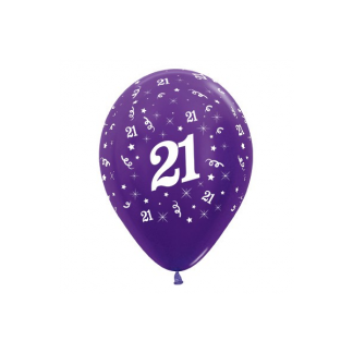21 Metallic Purple Pearl Violet Latex Balloons (6)