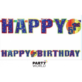 Happy Birthday Letter Banner - Customizable