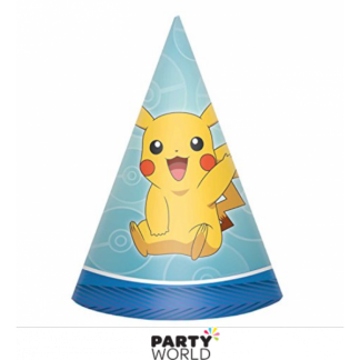 Pokemon Party Cone Hats with Pikachu (8)