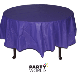 purple round tablecover