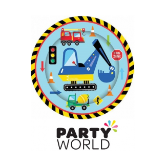 Construction World Party 9 inch Paper Plates (8)