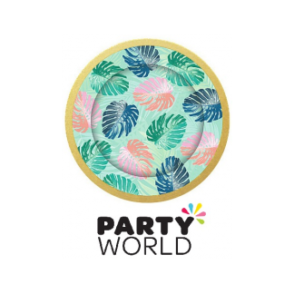 Tropical Party 9inch Paper Plates (8)